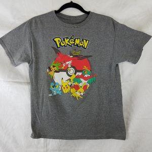 Poke'mon gray tshirt kid's 2xl [18]